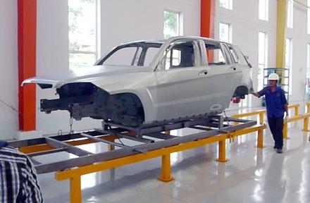 Dây truyền sơn của Mercedes-Benz Việt Nam (MBV)
