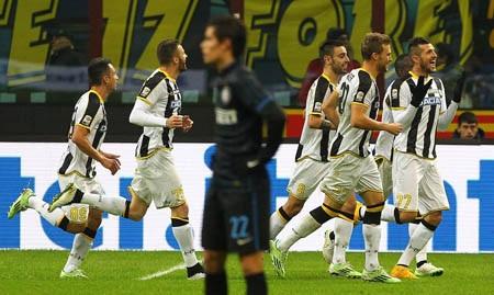 Inter thất bại đau đớn trên sân nhà trước Udinese