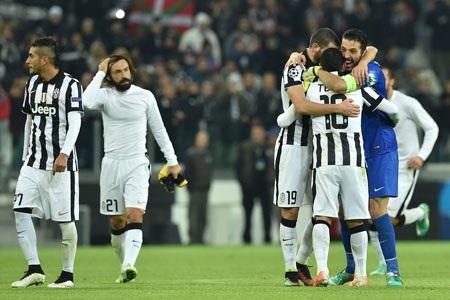 Juventus đã đi tiếp sau trận hòa trước Atletico Madrid