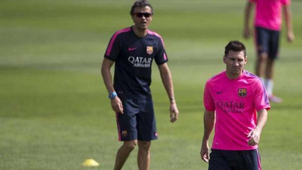 Messi đã có những xung độ nhất định với HLV Luis Enrique