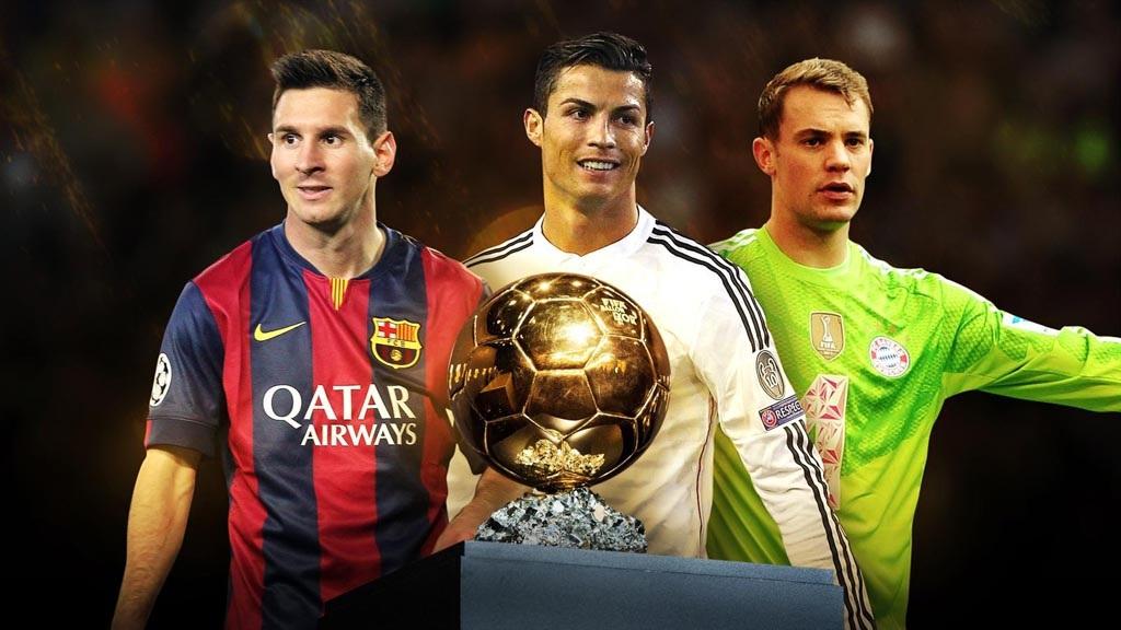 Ba ứng cử viên trong danh sách rút gọn Quả bóng vàng 2014