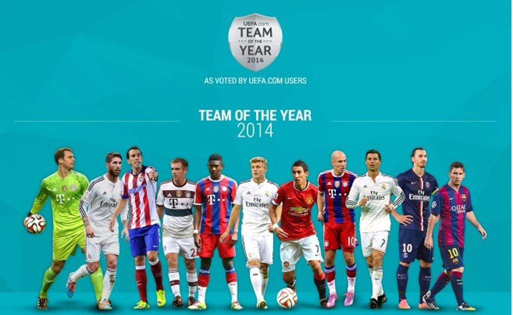 11 cầu thủ được vinh danh ở Đội hình tiêu biểu UEFA 2014