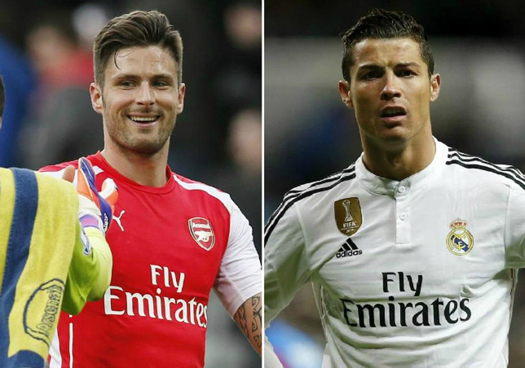 Giroud có thành tích hơn C.Ronaldo trong năm 2015