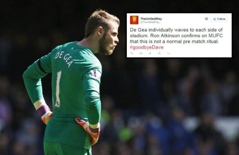 De Gea bất ngờ chào CĐV ở Old Trafford trước trận đấu