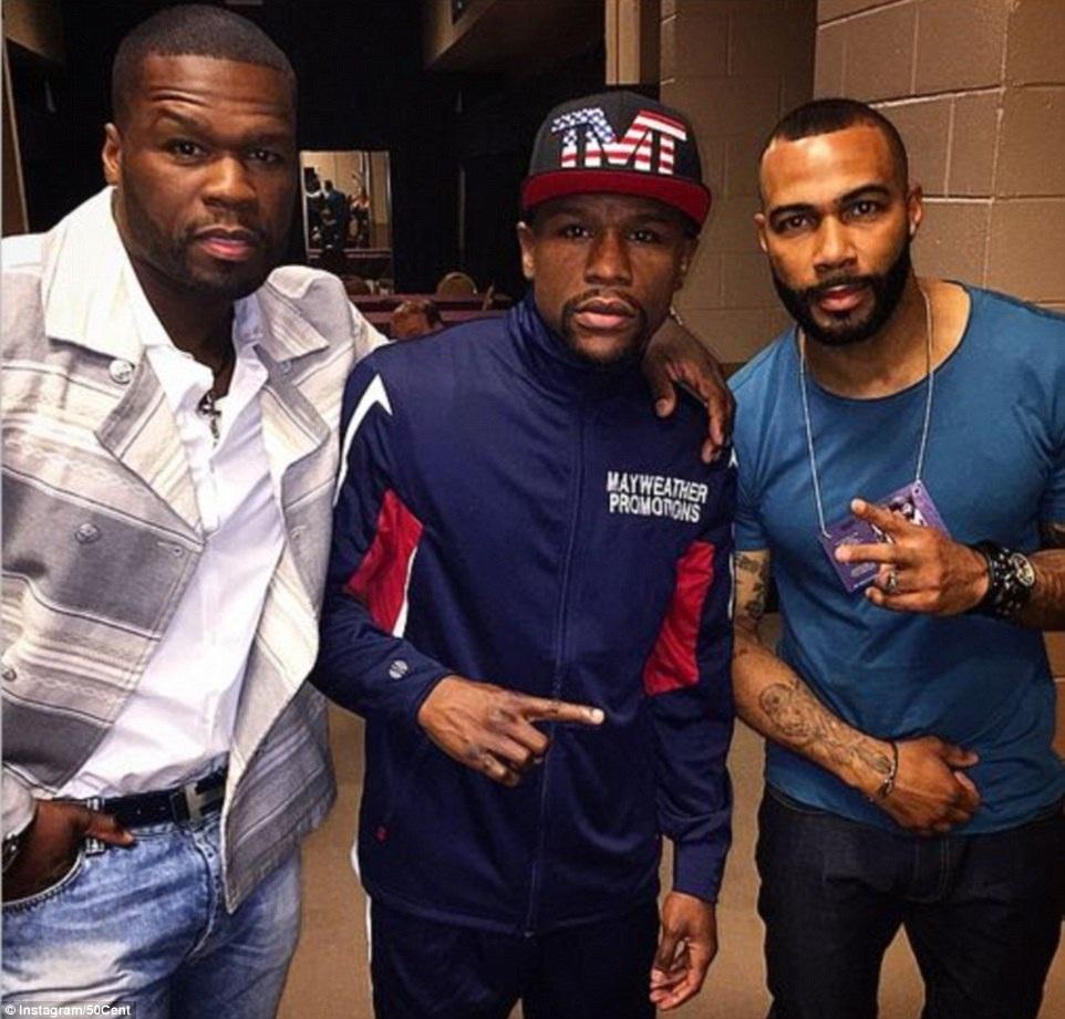 Rapper 50 cent và diễn viên Omari Hardwick ủng hộ cho Mayweather
