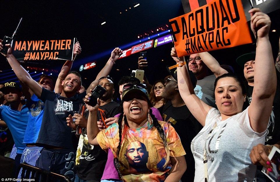 Rất nhiều người ủng hộ của Pacquiao và Mayweather