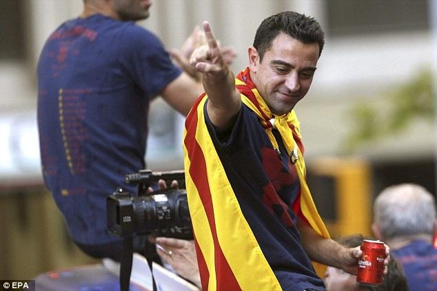 Xavi có màn chia tay tưng bừng với Barcelona