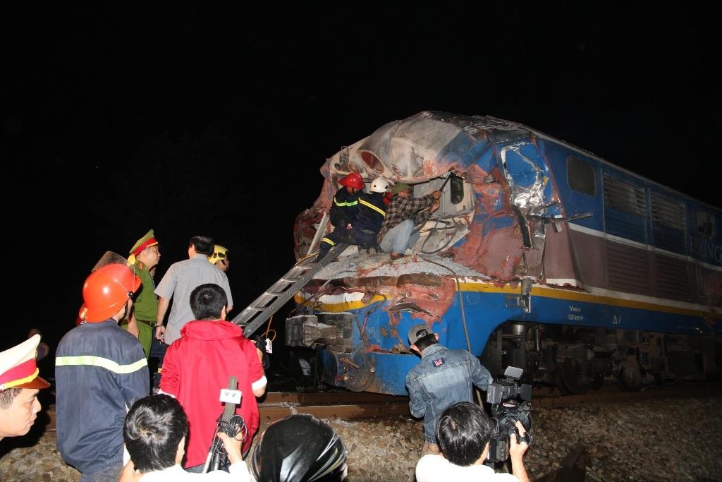 Vụ tai nạn đã khiến người lái tàu tử vong tại chỗ