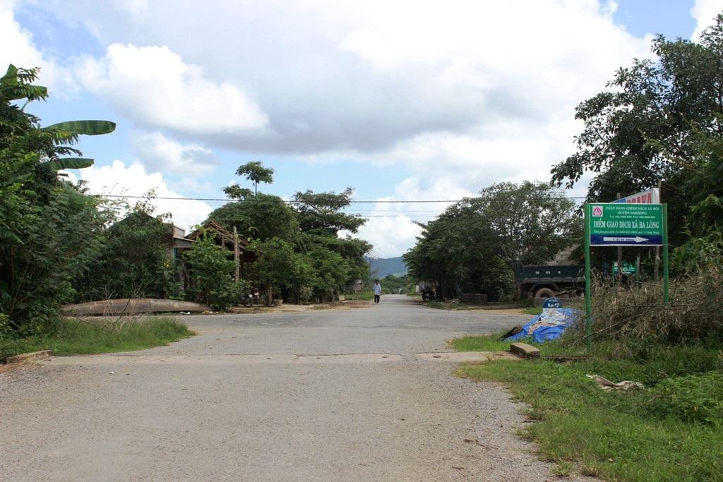 Khu vực trung tâm xã Ba Lòng đã được quan tâm đầu tư về cơ sở hạ tầng