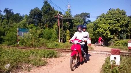 Đoạn đường ngang giao cắt với đường sắt xảy ra vụ tai nạn