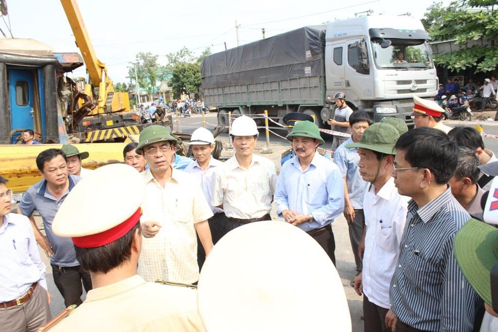 Lãnh đạo tỉnh Quảng Trị xuống hiện trường để trực tiếp chỉ đạo cứu hộ