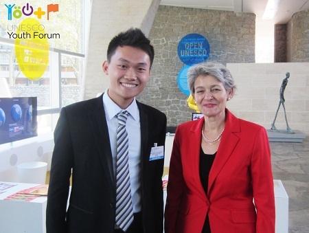 Trần Hà Dương - đại diện Việt Nam cùng bà Irina Bokova - Tổng Giám đốc UNESCO.