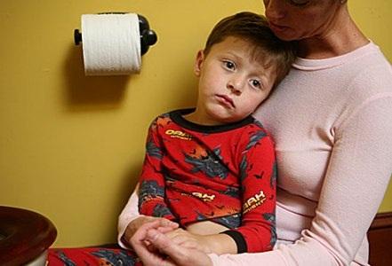 Nhiều gia đình không còn thiết tha gì tết vì con bị tiêu chảy (Ảnh Internet)
