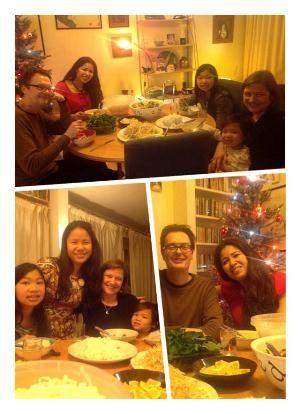 Thảo Duyên đón Noel 2013 bên cạnh bạn bè tại Anh