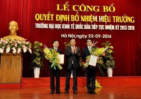 Tân Hiệu trưởng trường ĐH Kinh tế Quốc dân - GS.TS Trần Thọ Đạt.