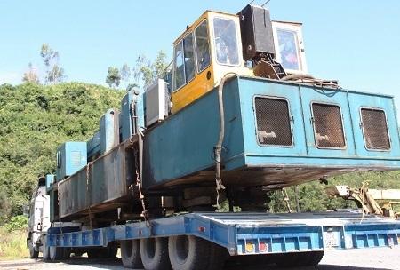 Xe quá tải bị tạm giữ tại Khánh Hòa.