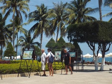 Du khách tham quan triển lãm.