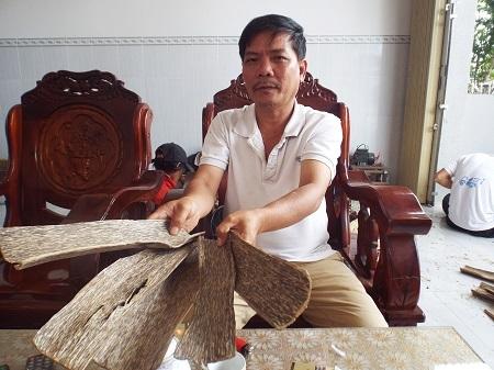 Trầm sánh bì được tạo ra từ vỏ cây dó bầu.