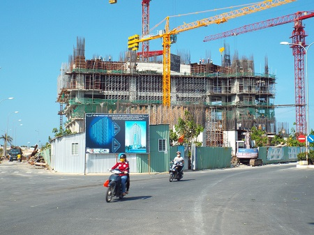 Công trình đã thi công 6 tầng nổi, 1 tầng hầm. Theo thiết kế công trình sẽ cao 48 tầng.