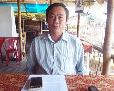 Cựu binh Trường Sa Nguyễn Văn Dũng trò chuyện cùng PV Dân trí