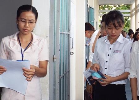 Giám thị tại điểm thi trường