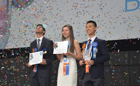 3 gương mặt giành giải thưởng cao nhất của Hội thi Intel ISEF 2015