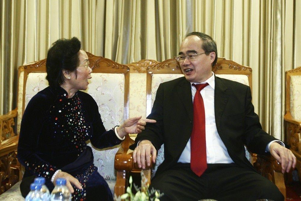 Ông Nguyễn Thiện Nhân - Ủy viên Bộ Chính trị, Bí thư Thành ủy Thành phố Hồ Chí Minh đến với đêm trao giải.