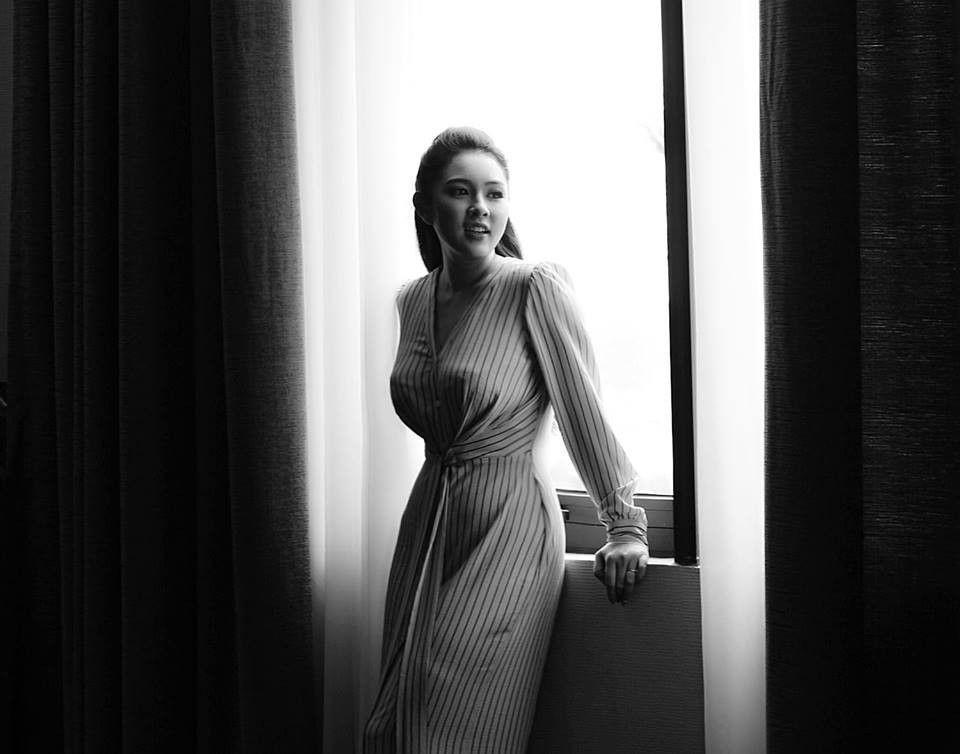 Bảo Trâm cho rằng, hạnh phúc sẽ giúp cái đẹp của người phụ nữ lan toả từ trong ra ngoài.