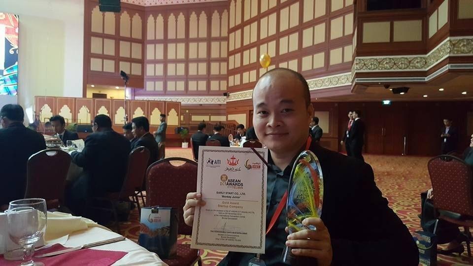 Đào Xuân Hoàng - Người sáng lập của Monkey Junior- sản phẩm vừa đoạt giải vàng ASEAN ICT Award ở hạng mục Startup xuất sắc nhất