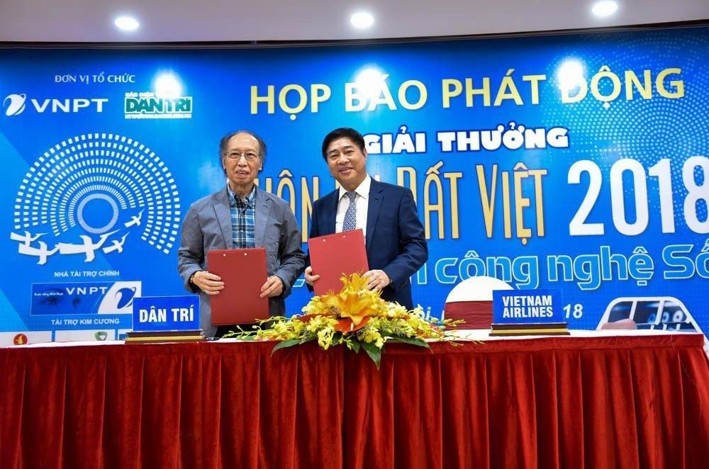 Vietnam Airlines là nhà tài trợ kim cương của Giải thưởng Nhân tài Đất Việt năm 2018