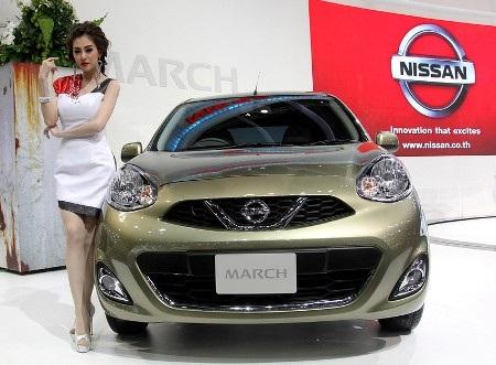 Xe Nissan March phiên bản mới. Mẫu xe này còn có tên gọi khác là Nissan Micra (Ảnh: AP)
