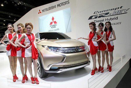 Xe Mitsubishi GR-HEV Concept (Ảnh: AP)