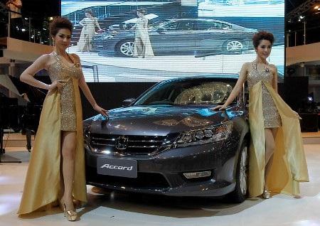 Xe Honda Accord 2013 phiên bản dành cho thị trường châu Á đã trình làng tại Thái Lan (Ảnh: Reuters)