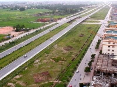 Đoạn đầu của Đại lộ Thăng Long (Ảnh: Huy Hùng/TTXVN)