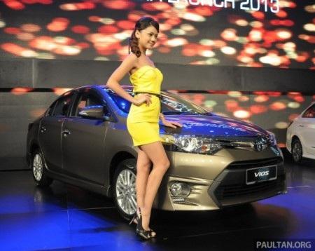 Xe Toyota Vios thế hệ mới được chính thức giới thiệu tại thị trường Malaysia từ tháng 10/2013