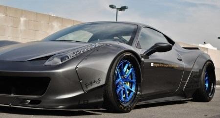 Download trọn bộ hình nền độ phân giải cao mẫu Ferrari 458 Italia bản độ LB Performance
