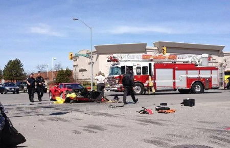 Hàng hiếm Ferrari F40 gặp nạn ở Canada