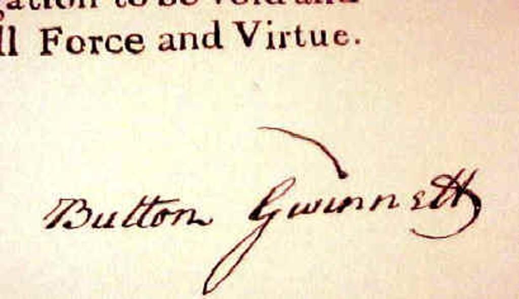 Bản lưu hiếm hoi chữ ký của Button Gwinnett,chữ ký nàycó giá từ 17 tỷ đồng.