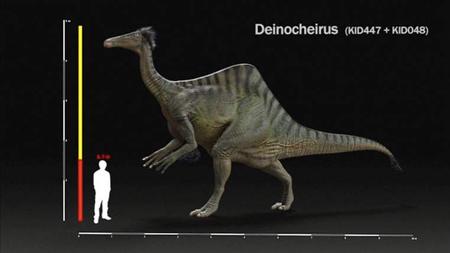 Hình dáng loài khủng long có móng vuốt sắc nhọn nhưng không có răng.