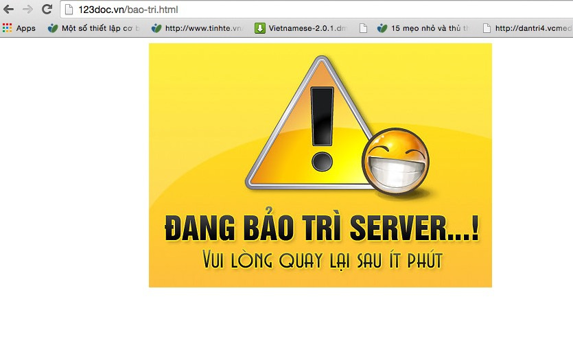 Mạng xã hội 123doc.vn đã bị tịch thu tên miền.
