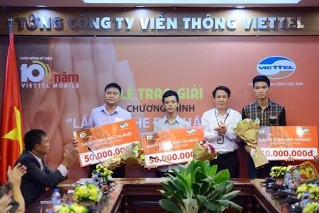 10 khách hàng khác nhận giải góp ý khả thi cũng được Viettel tặng thưởng 50 triệu đồng/giải.