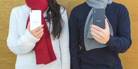 Tông màu cá tính của HTC Desire Eye giúp bộ trang phục thêm ấn tượng