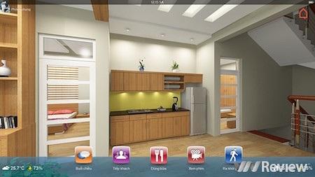 SmartHome là giải pháp nhà thông minh hiếm hoi sử dụng giao diện điều khiển 3D