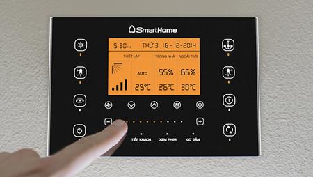 Điều khiển Bkav SmartHome thông qua bảng điều khiển trung tâm
