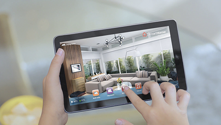 Điểu khiển nhà thông minh Bkav SmartHome qua Tablet