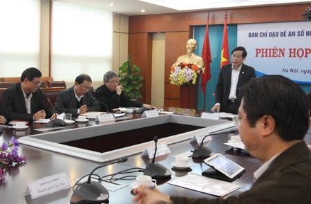 Bộ trưởng Nguyễn Bắc Son phát biểu chỉ đạo tại cuộc họp.