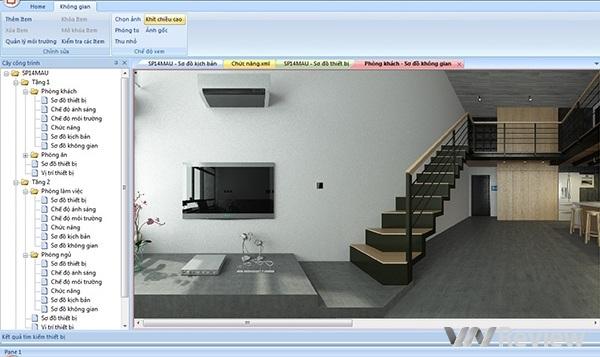 Ảnh chụp màn hình bước cấu hình ghép giao diện 3D vào phần mềm điều khiển.