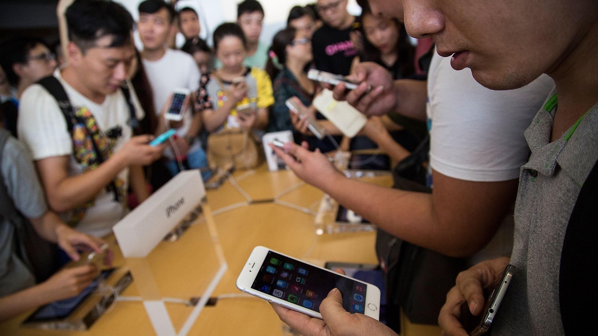 Người dùng Trung Quốc đang rất ưa chuộng điện thoại iPhone 6, iPhone 6 Plus.