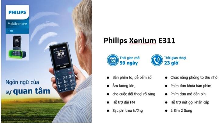 Cấu hình chi tiết của Philips Xenium E311