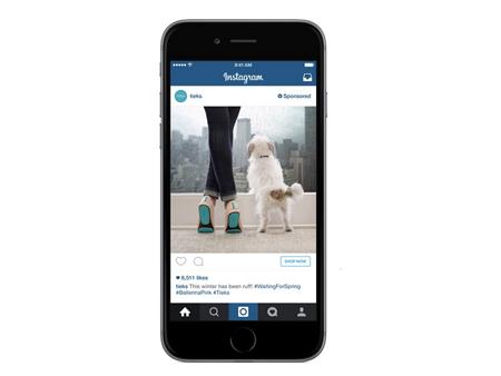 Quảng cáo trong hình ảnh của Instagram có thể cho phép người dùng mua sản phẩm từ trên ứng dụng.